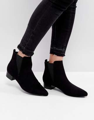 London Rebel Kitten heel Point Boots