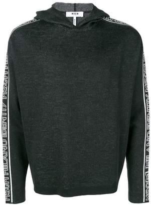 MSGM striped sleeve hoodie