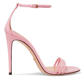 Gucci - Patent-leather Sandals - Baby pink $695 thestylecure.com