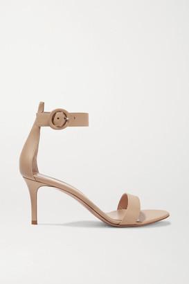 Gianvito Rossi Portofino 70 Leather Sandals - Beige