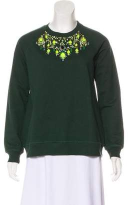 Matthew Williamson Embellished Crew Neck Sweatshirt