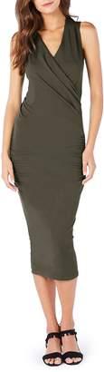 Michael Stars Faux Wrap Midi Dress