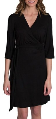 Women's Udderly Hot Mama 'Whimsical' Nursing Wrap Dress $74 thestylecure.com