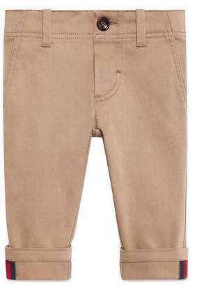 Gucci Baby gabardine trousers with Web
