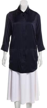 Kaufman Franco KAUFMANFRANCO Silk Button-Up Tunic