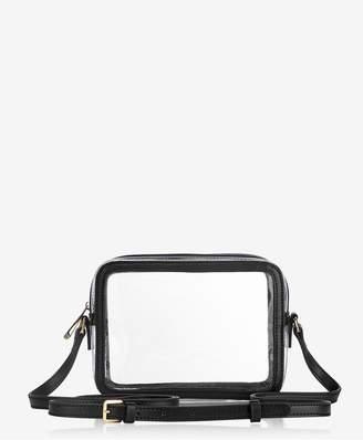 GiGi New York Collins Crossbody In Clear Bag With Black Vachetta Trim