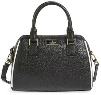 Kate Spade New York 'Prospect Place - Small Pippa' Leather Crossbody Satchel - Black $328 thestylecure.com