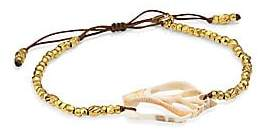Chan Luu Women's 18K Goldplated Sterling Silver & Urcious Skeleton Shell Bracelet