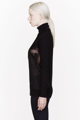 Stella McCartney Black Swirled Lace Celeste Top