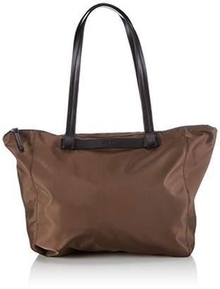 Bree Barcelona Nylon 9, Fango, Zip Tote W15, Women's Bag, Brown(fango 497), (B x H x T)
