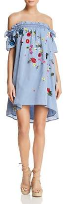 Joie Clarimonde Off-the-Shoulder Chambray Dress