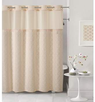 Generic Hookless Pale Pink Mosaic Polyester Shower Curtain