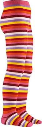 Playshoes Girls Supersoft Ringed Multicolored Meets Oekotex-100 Standards Tights,(Manufacturer Size:7-8 Years)