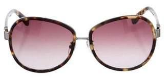 Calvin Klein Collection Gradient Tortoiseshell Sunglasses