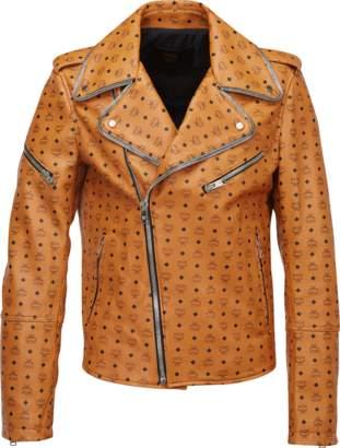 MCM Men's Visetos Print Leather Rider Jacket