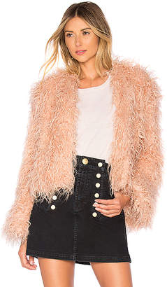 Understated Leather Faux Shearling Jacket