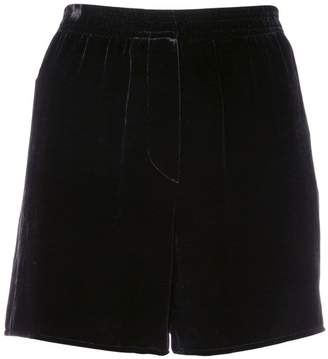 Vera Wang velvet high-waisted shorts