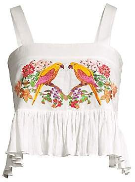 Carolina K. Women's Layla Parrot Cotton Crop Top