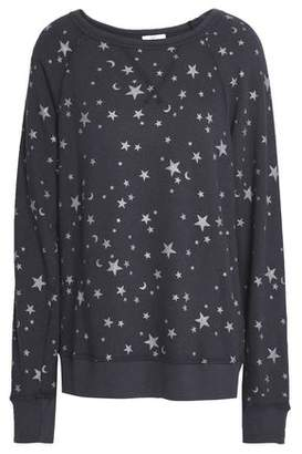 Joie Metallic Printed French Cotton-Terry Sweatshirt