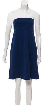 Diane von Furstenberg Strapless Woven Dress