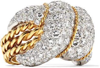 Fred Leighton 1960s 18-karat Gold, Platinum And Diamond Ring