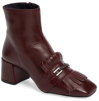 Topshop Women's Topshop 'Maximum Fringe' Loafer Boot