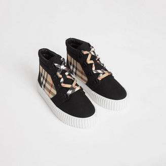 Burberry Vintage Check Detail High-top Sneakers