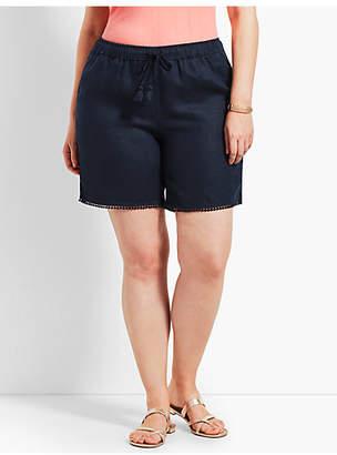 """Talbots Plus Size Exclusive 7"""" Linen Short"""