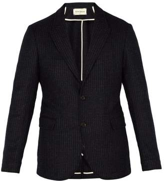 Oliver Spencer Brookes Single Breasted Wool Blazer - Mens - Navy