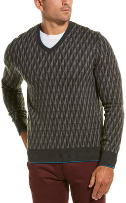 Dunhill Cashmere & Wool-Blend V-Neck Sweater