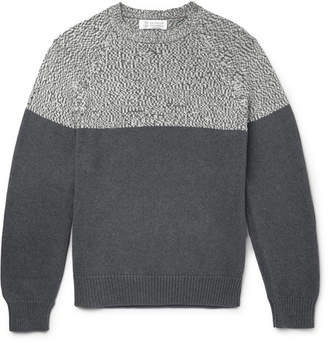 Brunello Cucinelli Two-Tone Cotton Sweater