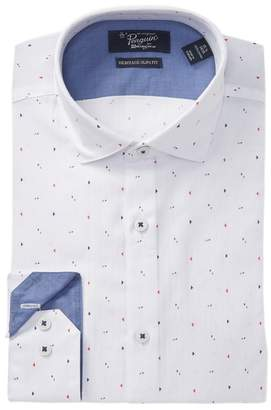 Original Penguin Bright Print Heritage Slim Fit Dress Shirt