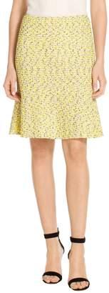 St. John Romee Tweed Knit Fit & Flare Skirt
