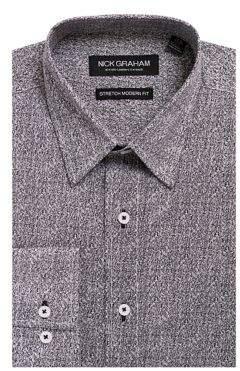 Nick Graham Heathered Button-Down Shirt