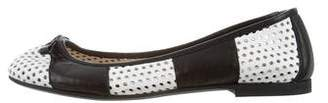 Alessandro Dell'Acqua Leather Perforated Flats
