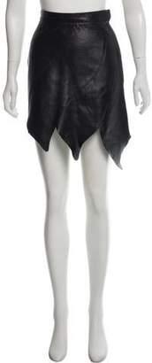 Rodarte Asymmetrical Leather Skirt