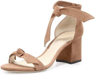 Alexandre Birman Clarita Suede Block-Heel Sandal