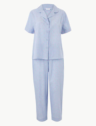 M&S CollectionMarks and Spencer Dobby Short Sleeve Pyjama Set