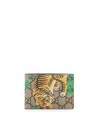 Gucci Bengal GG Supreme Wallet $295 thestylecure.com