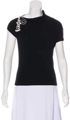 Blumarine Embellished Short Sleeve T-Shirt
