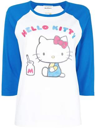 Hello Kitty Chinti & Parker contrast panel T-shirt