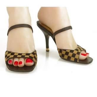 Louis Vuitton Brown Pony-style calfskin Sandals