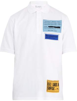 J.W.Anderson Patch-detail cotton-piqué polo shirt