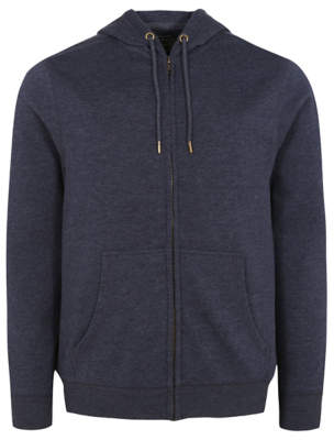 George Navy Zip Through Hoodie