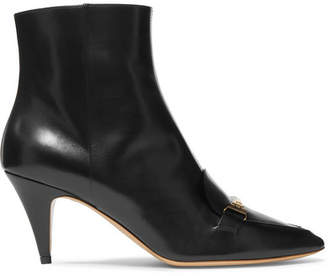Tod's Embellished Leather Ankle Boots - Black