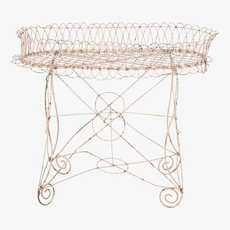 ABC Home Vintage Standing Wire Planter Pink