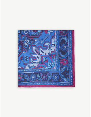 Etro Paisley aztec print silk pocket square
