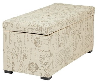 Office Star AVE-SIX by Products Sahara Tufted Storage Bench Ottoman