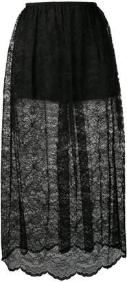 Paco Rabanne lace midi skirt