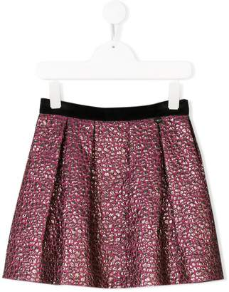 Lanvin Enfant draped textured skirt
